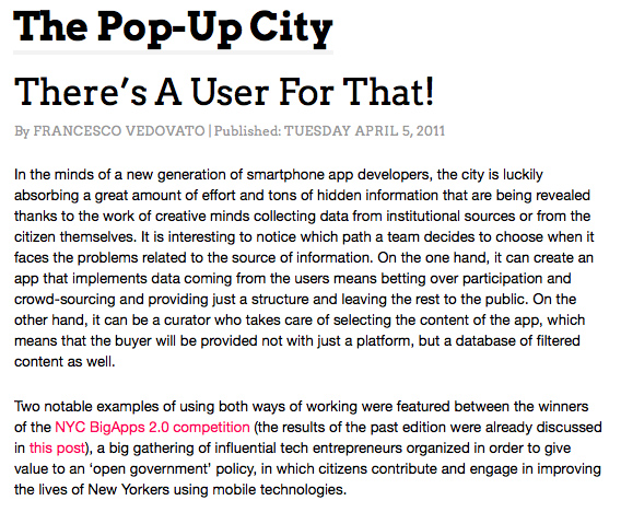 Pop Up City article